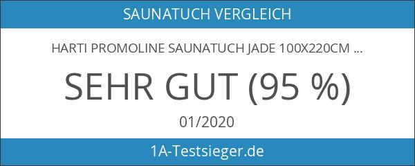 harti PromoLine Saunatuch JADE 100x220cm XXL Übergröße graphit Extra flauschige