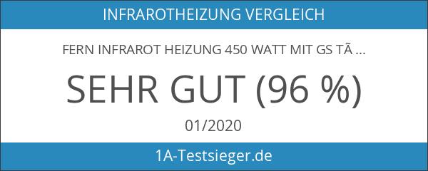 Fern Infrarot Heizung 450 Watt mit GS Tüv Prüfsiegel -Deutscher