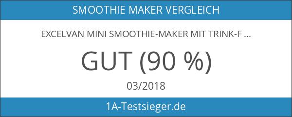 Excelvan Mini Smoothie-Maker mit Trink-Flasche Sport Standmixer 600mL 300W Shake