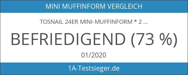 Tosnail 24er Mini-Muffinform * 2