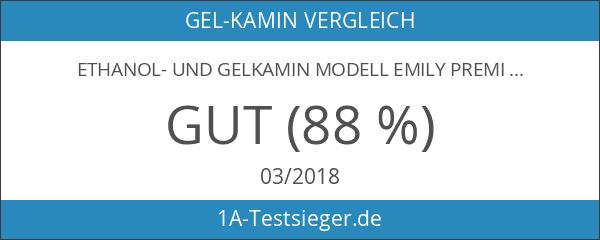 Ethanol- und Gelkamin Modell Emily Premium- Betrieb mit Brenngel oder