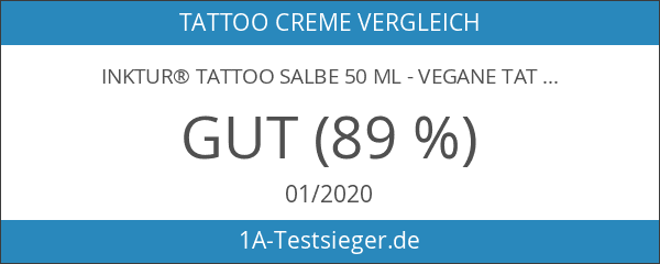 INKtur® Tattoo Salbe 50 ml - vegane Tattoo Creme zur