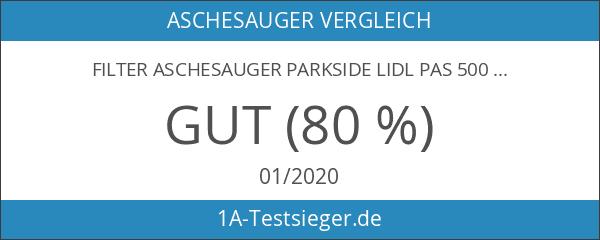 Filter Aschesauger Parkside LIDL PAS 500 D2 IAN 90977 Kaminsauger