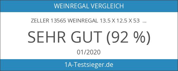 Zeller 13565 Weinregal 13.5 x 12.5 x 53 cm