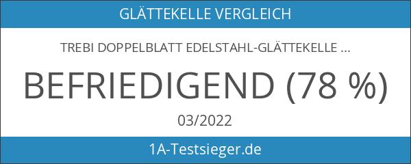 TREBI Doppelblatt Edelstahl-Glättekelle Softgriff blau 350 x 110 mm -