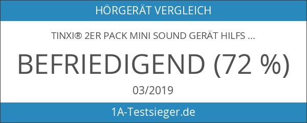 tinxi® 2er Pack Mini Sound Gerät Hilfsmittel Hörgerät Hörhilfe Hörverstärker