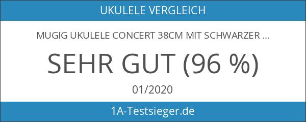 Mugig Ukulele Concert 38cm mit schwarzer Ukulele-Tasche