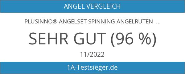PLUSINNO® Angelset Spinning Angelruten Combos Carbon-Teleskop Angeln Angelrute Pol mit