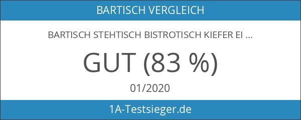 Bartisch Stehtisch Bistrotisch Kiefer Eichefarben 75x75 - BT-75