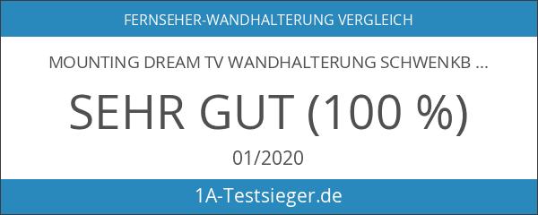 Mounting Dream TV Wandhalterung Schwenkbar Neigbar Fernseher Wandhalterung Doppel Arm