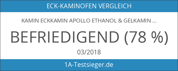 Kamin Eckkamin APOLLO Ethanol & Gelkamin inkl. 27 teiliges Set