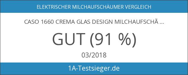 Caso 1660 Crema Glas Design Milchaufschäumer für cremigen Milchschaum kalt