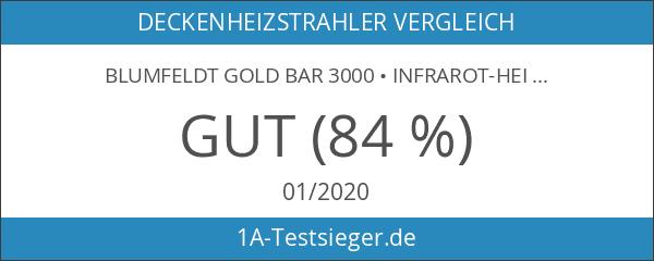 blumfeldt Gold Bar 3000 • Infrarot-Heizstrahler • Wand-und-Decken-Heizstrahler • 1000-3000