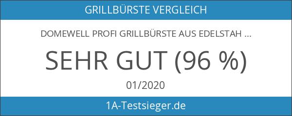Domewell Profi Grillbürste Aus Edelstahl - Extra Langer Griff 45