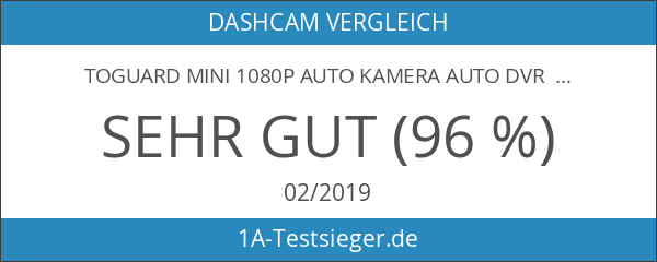 TOGUARD Mini 1080P Auto Kamera Auto DVR Kamera Dashcamera Recorder