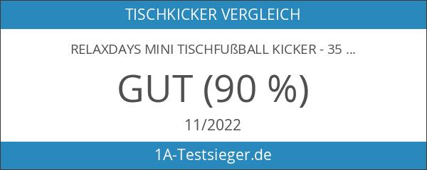 Relaxdays Mini Tischfußball Kicker - 35 x 21cm