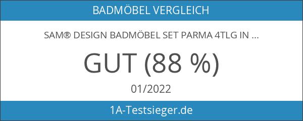 SAM® Design Badmöbel Set Parma 4tlg in Hochglanz weiß