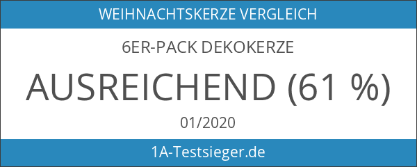 6er-Pack Dekokerze