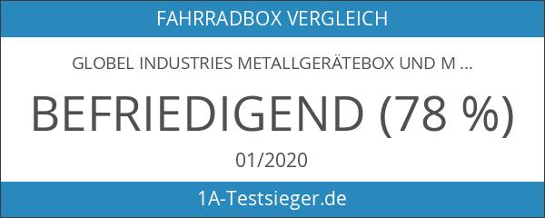 Globel Industries Metallgerätebox und Mülltonnenbox 5x3 Anthrazit