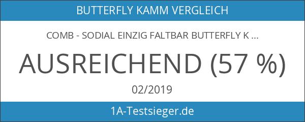 comb - SODIAL Einzig Faltbar Butterfly Kamm Klappkamm Haarkamm