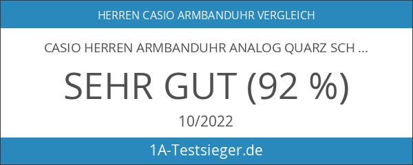 Casio Herren Armbanduhr Analog Quarz Schwarz Resin Mq-24-7B