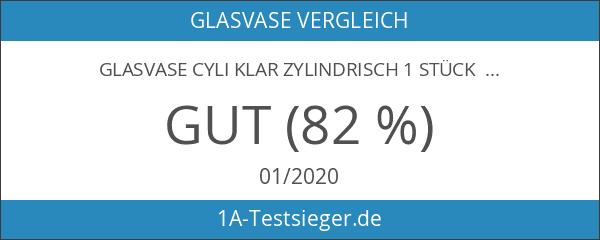 Glasvase Cyli klar zylindrisch 1 Stück 20 cm Ø 10