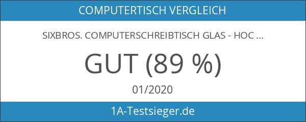 SixBros. Computerschreibtisch Glas - Hochglanz Schwarz - CT-3312D