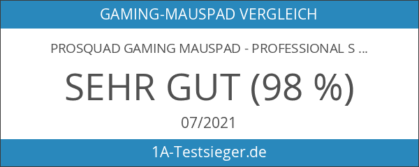 ProSquad Gaming Mauspad - Professional Speed-Pad - rutschfest und präzise