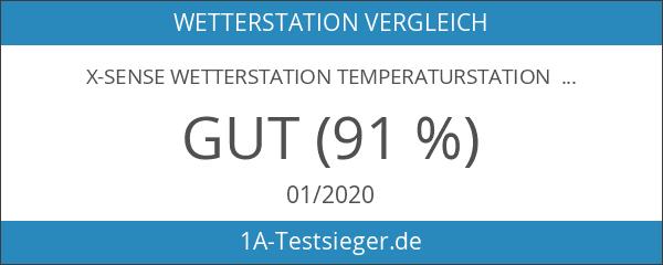 X-Sense Wetterstation Temperaturstation mit Projektionsuhr & 2 Wecker für Innen