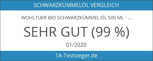 Wohltuer Bio Schwarzkümmel Öl 500 ml - Kaltgepresst in Rohkostqualität