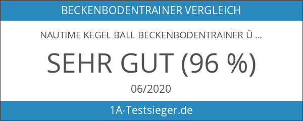 Nautime Kegel Ball Beckenbodentrainer Übung Bälle Silikon Beckenboden Training Balls