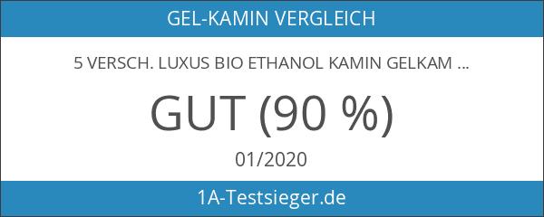 5 versch. Luxus Bio Ethanol Kamin Gelkamin Gel Wandkamin Cheminée