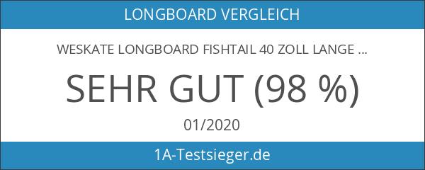 WeSkate Longboard Fishtail 40 Zoll Lange Cruiser Skateboard Komplett für