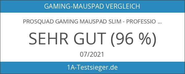 ProSquad Gaming Mauspad Slim - Professional Speed-Pad - rutschfest und