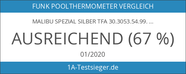 MALIBU SPEZIAL silber TFA 30.3053.54.99.IT Poolthermometer mit 2 Kabelsender