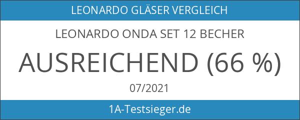 Leonardo ONDA Set 12 Becher