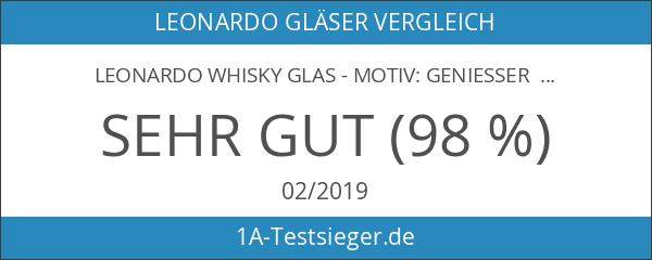 Leonardo Whisky Glas - Motiv: Geniesser limited - mit kostenloser