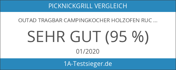 OUTAD Tragbar Campingkocher Holzofen Rucksack Notüberleben im Freien Picknick BBQ
