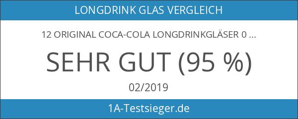 12 original COCA-COLA Longdrinkgläser 0