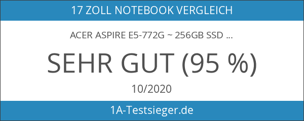 Acer Aspire E5-772G ~ 256GB SSD