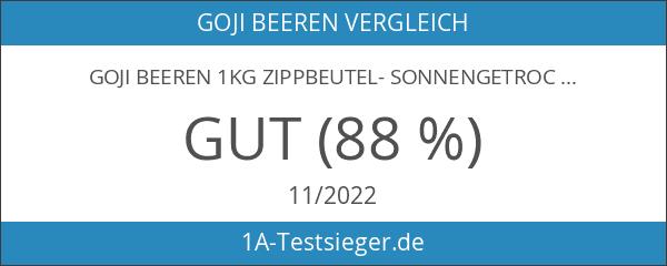 Goji Beeren 1kg Zippbeutel- Sonnengetrocknet - 1er Pack - Premium