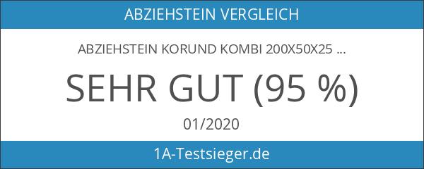 Abziehstein Korund Kombi 200x50x25