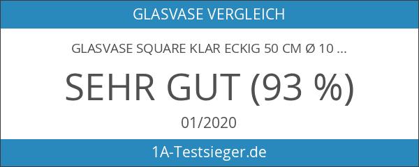 Glasvase Square klar eckig 50 cm Ø 10