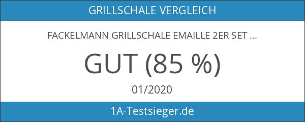 Fackelmann Grillschale Emaille 2er Set