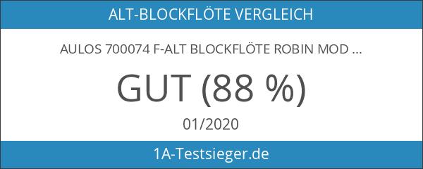 Aulos 700074 F-Alt Blockflöte Robin Mod.209B Barocke Griffw. Braun