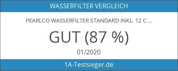 PearlCo Wasserfilter Standard inkl. 12 classic Filterkartuschen