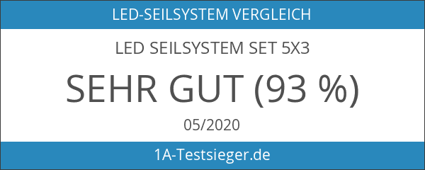 LED Seilsystem Set 5x3