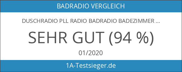 Duschradio PLL Radio Badradio Badezimmerradio Radio Bad Dusche UKW