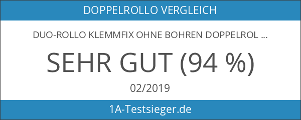Duo-Rollo Klemmfix ohne Bohren Doppelrollo mit Klemmträger 65 x 150