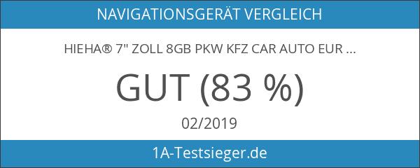 "Hieha® 7"" Zoll 8GB PKW KFZ Car Auto Europe Traffic"